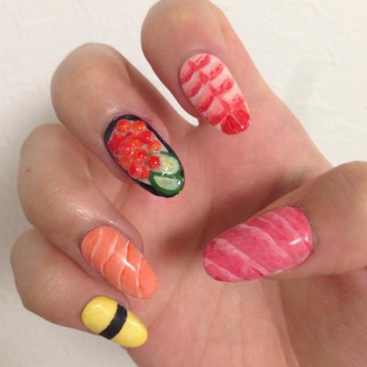 Sushi Nail Art The Latest Manicure Craze Is Here