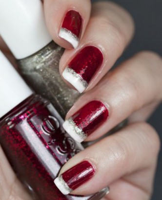 Sg50 Nail Art Red And White Nails Inspiration