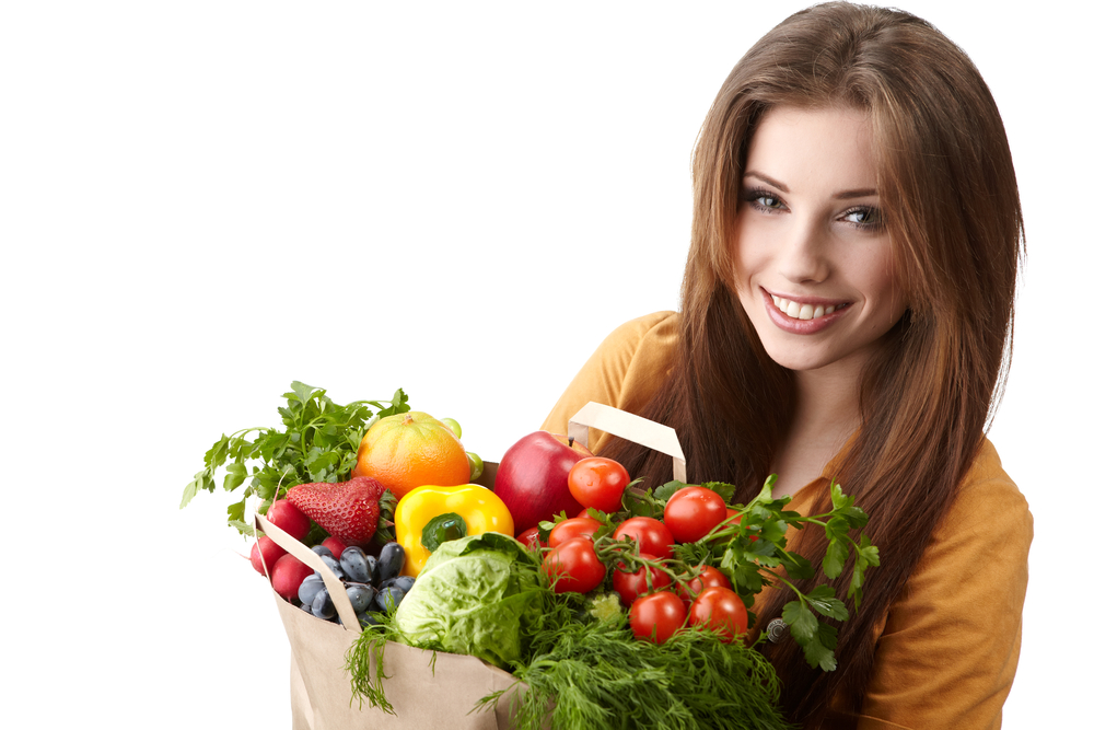 glowing skin by eating fruits and veges