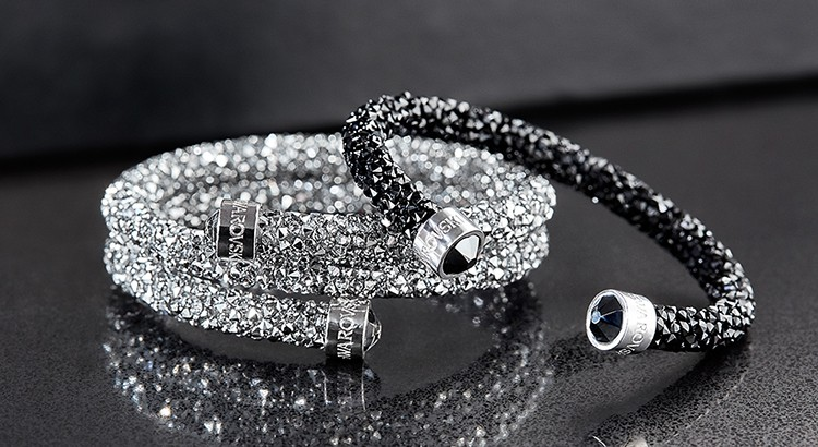 be4118463873a Swarovski's new Crystaldust bangles will leave stars in your eyes